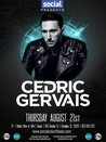 CEDRIC GERVAIS @ Social Bar & Lounge | 8.21.14 | 18+